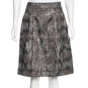 💕 BURBERRY london metallic skirt